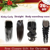 Wholesale Christmas Sales Lace Closure Accept Return A Body wave Virgin Brazilian Peruvian Malaysian Indian remy lace closure Hair Extension