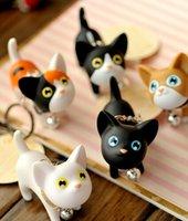 Cute Cat Kitten Ключевые цепочки Keyrings сумочек Кулон Орнамент Kid Игрушка любителей брелок мужчины кольцо для ключей Рождество Рождество подарок