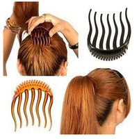 Wholesale 1Pcs Hair Clip For Ponytail Bouffant Styles Hair Clips Comb Tool x6cm Peigne Chignon na234
