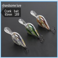 Cheap Fishing crank lure 65mm 18g Crankbait Live Target Bait long mouth Bill Threadfin Shad lure Swimming Depth 2.5m