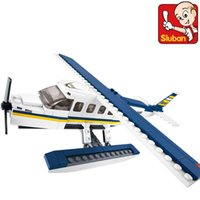 aerospace aircraft - Genuine SLuban Aerospace Aircraft Series Z Aquatic Children Assembled Toys