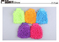 Wholesale 2016 Super Mitt Microfiber Car Wash Gloves Washing Cleaning Anti Scratch car washer Household care brush hot selling