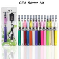 Wholesale eGo CE4 Blister kit electronic cigarette starter kits with ce4 atomizer and mAh ego t battery Various color