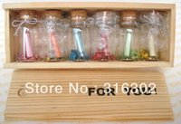 Wholesale Message in a Bottle quot For You quot Wooden Box w Glass Mini Letter Papers Gift Wedding Decoration LOVE