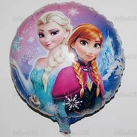 Wholesale Frozen Foil Balloon inch Elsa And Anna Balloons The Snow Queen Children Toys Party Festival Birthday Decoration Supplies Balloons DHL