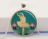 art deco dancer - Glass Dome Necklace Ballet Dancer Swan Lake photo necklace Art Deco Ballerina Pendant necklace