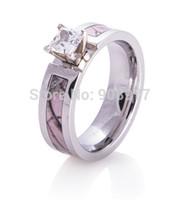 best titanium rings - Best Seller mm Titanium ct AAA CZ inlaid Realtree AP Pink Camo Engagement Ring Camo wedding band lover rings engagement ring