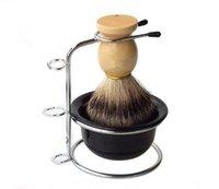 badger bowl - Badger Shaving Brush Set with Shave Stand Safety Razor Holder Shaving Bowl