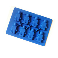 candy molds - LEGO robot man Aberdeen ice trays ice lattice silicone ice trays ice cream makers Silicone Candy Molds chocolate Mold