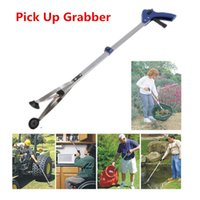 aluminum reacher - Novelty Foldable Aluminium Pick Up Grabber Trash Clamp Suction Cup Reacher cm Long Reaching Claw Helping Hand Tool Pliers