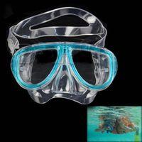 Wholesale 50 shipping fee Hot Sale New Blue Scuba Diving Equipment Dive Mask Dry Snorkel Set Scuba Snorkeling Gear Kit TK1081