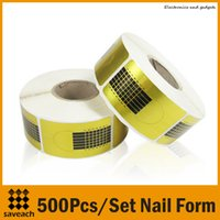 Cheap Golden Nail Art Tip Extension Forms Best Acrylic UV Gel Nail Form