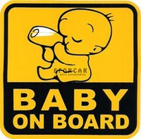 baby bottle graphics - 50pcs Cool Baby On Board Graphic Decal Nursing Bottle Car Sticker Suitable for Any Car Body Car Window