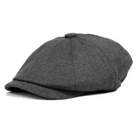 Wholesale Color Octagonal cap newsboy cap painter cap male women s general winter fashion vintage cotton warm hat
