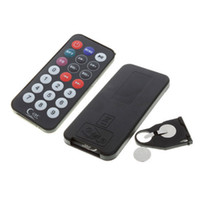 Wholesale 2015 New arrives in MP3 MP4 player SD Card Reader FM Transmitter SD MMC Car Kits With Remote Control