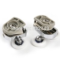 Wholesale 4 Upper Pulley and Bottom Pulley Bathroom glass door mounted roller order lt no track