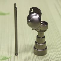 1 18 - Newest Adjustable Domeless baseball cap Titanium nail mm in for Male and Female Glass bongs glass water pipes