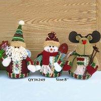 santa ornament - Middle Santa Claus Snowman Deer quot Table Ornament Indoor Christmas Standing Decoration HL