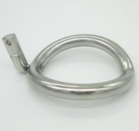 Cheap Super Small Stainless Steel Male Chastity Device Cock Cages Additional Ring Cock Ring 8 Size Choose Adult Sex BDSM Toy