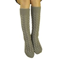 amazing winter boots - Amazing Oct Winter Warm Solid Color Women Girl Long Knitted Long Boot Socks