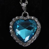 Wholesale 2015 New Popular Hot Korean Crystal Heart Titanic Heart Of Ocean Necklace For Women Romantic Gifts Z XL028