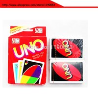 Wholesale 270g copper board New UNO Card Game Playing Card Family Fun with price USD1 free shiping via TNT UPS DHL Fedex