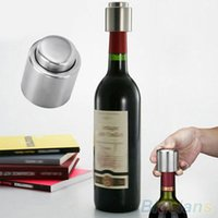 Wholesale Stainless Steel Vacuum Sealed Red Wine Storage Bottle Stopper Plug Bottle Cap SO5