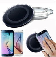 Wholesale Universal Qi Wireless Charger not fast Charging For Samsung Note Galaxy S6 s7 Edge mobile pad with package usb cable can with logo