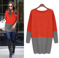 Wholesale 2015 New vestidos Autumn Winter Victoria Beckhams Women Dress Package Hip Slim O Neck Long Sleeved Casual Knits Tops Tees Sweater OXL081707