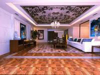 Wholesale Asian pear Sapele wood floor Combination floor High end custom floor Design House floor Jade inlaid wood floor Shell floor Floor finishes