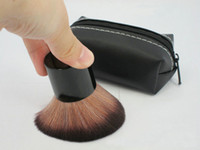 Wholesale 182 Rough Brush Beauty Kabuki Makeup Cosmestic Large Face Mineral Powder Foundation Blusher Brushes with Leather Bag