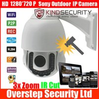 Wholesale Waterproof Vandalproof HD P Wireless WiFi m Infrared IR Cut x Zoom Dome Pan Tilt PTZ Security Outdoor IP Network Camera