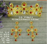 ancient china photos - The European and American fashion baroque big crown stage photo shoot the bride adorn article restoring ancient ways