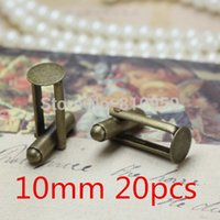 Wholesale 20pcs mm Brass Antique Bronze French Cufflinks Back Cameo cabochons base setting findings Cufflinks Accessories