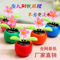 Wholesale Factory direct solar sun flower head automatic rocking apple flower car accessories car decoration