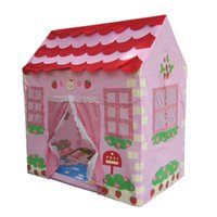 Cheap Wholesale-Free Shipping Free Shipping Cute House Shape Children's Camp Shelter Outdoor or Indoor Play Tent