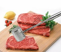 Wholesale TOP Stainless Steel Beef Pork Chicken Pounder Meat Hammer Mallet Tenderizer Meat Poultry Professiona Kitchen Tool