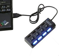 Wholesale product Port Hub USB With LEDs USB Hub With On Off Switch