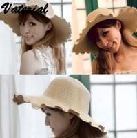 Gros-2015, la nouvelle protection à la main chapeau de paille de soleil département de style pastoral et des chaises chapeau côté Canotier femmes chapeaux d'été