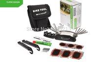 Wholesale Multifunction tool Sets for Bike Bicycle Tyre Repair Multi Tool Set Kits Cycling Repairing Tools with Tool Bag Black