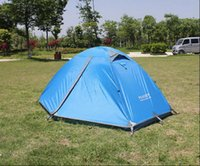 Wholesale Camping Outdoor Person Hiking Shelters Double layer Waterproof Camping Aluminum Tent color
