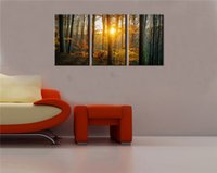 Wholesale HD Canvas Print home decor wall art painting Picture p No frame Woods Sunrise