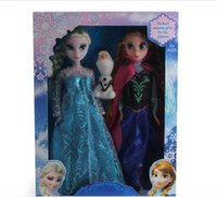 Wholesale Cheap Frozen Anna Elsa olaf Toys dolls set Princess Dolls Action Figures Inch Elsa Anna Christmas Gift For Kids Girls Free DHL factory