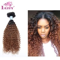 Cheap Afro Kinky Curly Remy Human Hair Weaves Ombre Hair Extensions Hot Beauty Ombre Brazilian Virgin Hair
