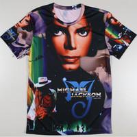 big michael jackson - Men Michael Jackson Rock Print T shirts The Big Bang Theory Sheldon Retro Blusas Summer Style T Shirts Euro Size Tshirts Tees