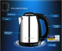 Wholesale 2015 NEW hot sale Stainless Steel Electric Tea Kettle Liter Hot Water Boiler Heater Pot