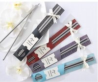 Metal CIQ  VIP offer Cheap price Stainless steel Chopsticks Best Gifts for wedding favors gifts