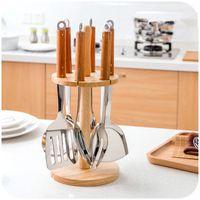 Wholesale 7 set Cutlery Set Stainless Steel Colander Spoon Spatula Kitchen Supplies Full Set Of Cooking Utensils Kitchen Accessories