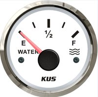 Wholesale 52mm water level gauge water level meter with reasonable ohm white faceolate for universal car truck boat yacht