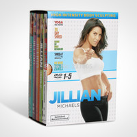 Wholesale Hottest Jillian Michaels Yoga DVD Kit Fitness Teaching Training Videos Women YOGA Exercise workout